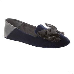 Gray Banana Republic Velvet Slippers